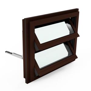Lamellenfenster (Nußbraun)