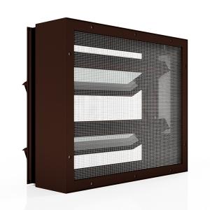 Lamellenfenster mit Insektenschutzgitter_Nussbraun