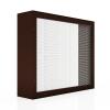 Lamellenfenster mit Insektenschutzgitter_braun