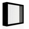 Lamellenfenster mit Insektenschutzgitter_schwarz