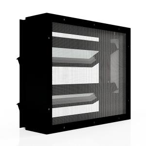 Lamellenfenster mit Insektenschutzgitter