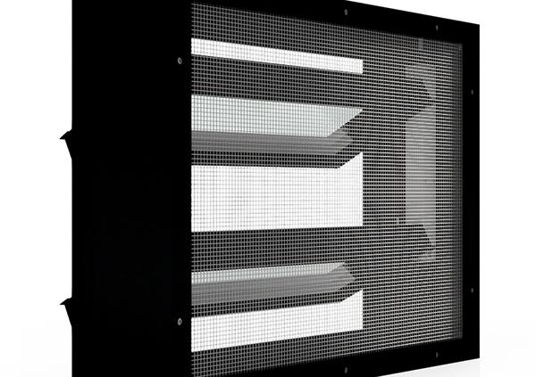 Lamellenfenster mit Insektenschutzgitter_Verkehrsschwarz
